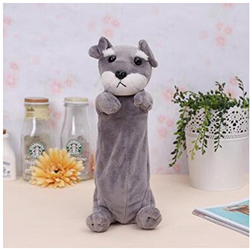 ECYC® Cute Cartoon Dog Pencil Case Zipper Enfants ÉTudiant ÉCole Stylo Sac