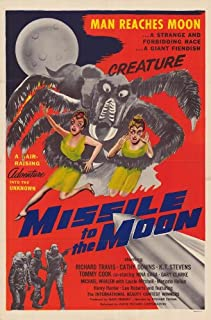 Pop Culture Graphics Missile to The Moon Poster 27x40 Richard Travis Cathy Downs K.T. Stevens