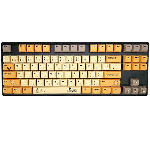 COSTOMキーキャップ Cherry MXキーキャップ スイッチ互換用キートップ 61/87/104 MXスイッチ用 メカニカルゲーミングキーボード用 耐摩耗 耐油性 引抜き工具付 (漫画2)