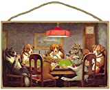 SJT ENTERPRISES, INC. Dogs Playing Poker 10' x 16' Wood Sign by Cassius Marcellus Coolidge from 1894 (SJT36701)