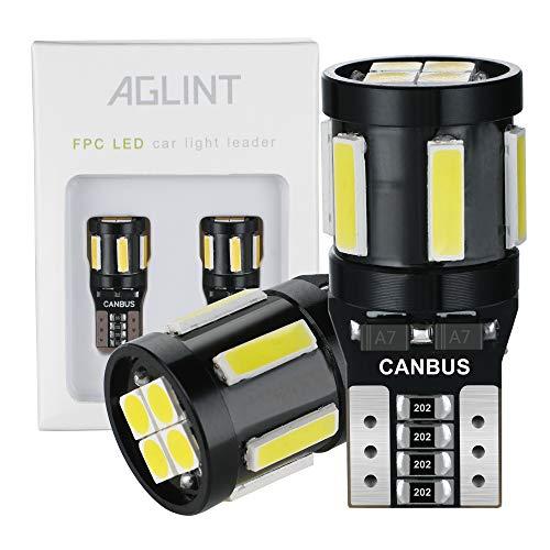 AGLINT 2X T10 W5W LED CANBUS 194 168 Cuneo Tipo Auto Lampadina 10SMD 7020+3030 Luci di posizione Targa Lampade Luce di Indicatore Laterale Bianca
