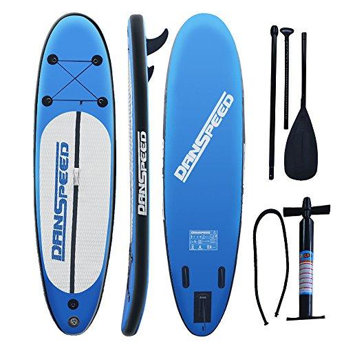 MLJ Standup Paddle Board 305x 75x 15cm SUP gonfiabile Boards Sets per navigare, Outdoor Sport con pompa, Pinne e kit di riparazione Zaino