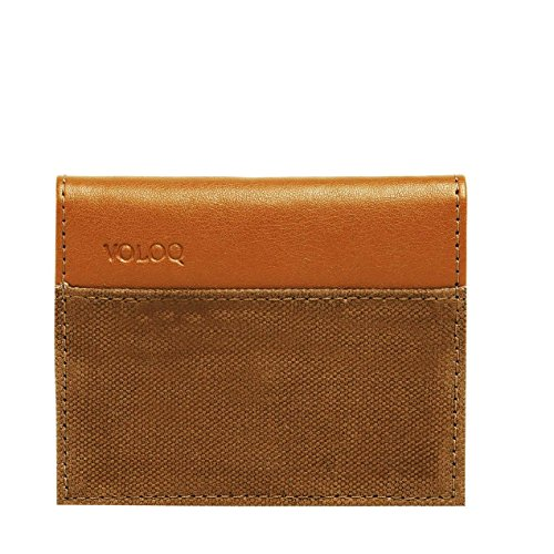 Wade Card Holder Wallet for Men, Travel, Vegan,Color Tan Coffee Brown