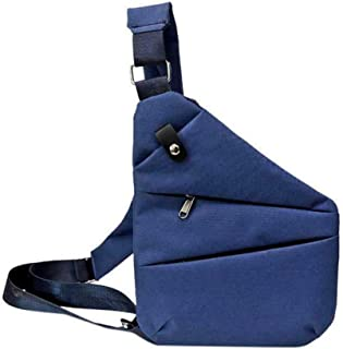 Just Today Waterproof Personal Shoulder Pocket Bag (Left shoulder, Blue)