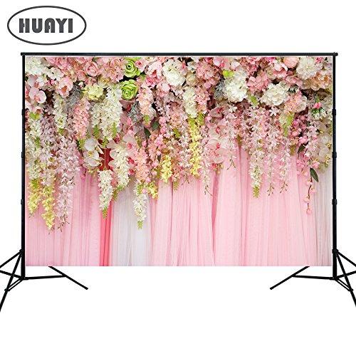 HUAYI Bruiloft Gordijn Bloemen Forale Decoraties Foto Achtergrond Baby Douche Dessert Tafel Blush Achtergrond, Xt-6740