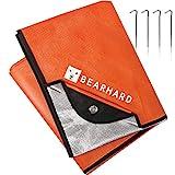 Bearhard Manta de emergencia resistente 3.0, lona de emergencia, manta aislada, manta térmica impermeable para senderismo, camping