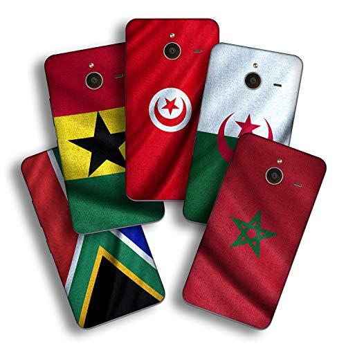 atFolix Designfolie kompatibel mit Microsoft Lumia 640 XL, wähle Dein Lieblings-Design aus, Skin Aufkleber (Flaggen aus Afrika)