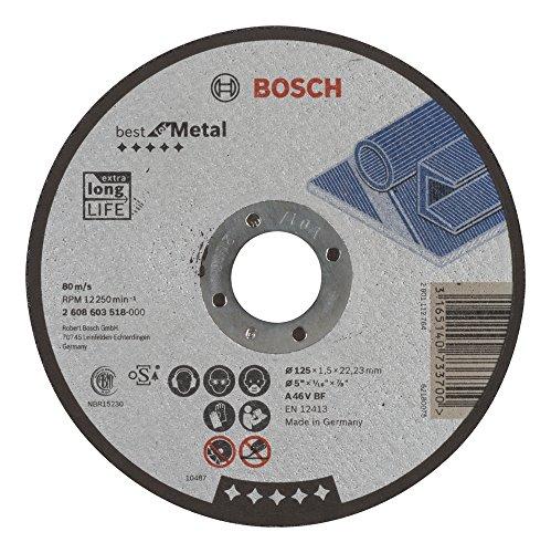 Bosch Professional 2608603518 Trennscheibe mit flacher Nabe, für Metall A 46 V BF, grau, 2608603518