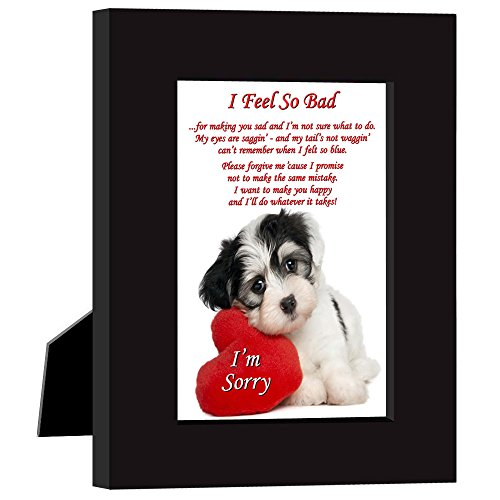 Say I'm Sorry in a Cute Way with this Puppy and Heart Frame