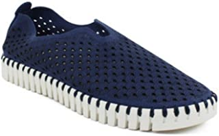 ILSE JACOBSEN Tulip Perf Slip-On (40, Navy)