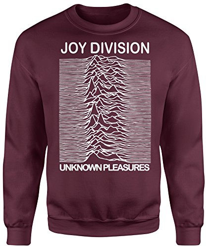 LaMAGLIERIA Unisex-Sweatshirt Joy Divison Classic - Set-In Sweatshirt, M, Burgundy