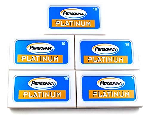 Personna Platinum Rasierklingen 50 Rasierklingen für Rasierhobel