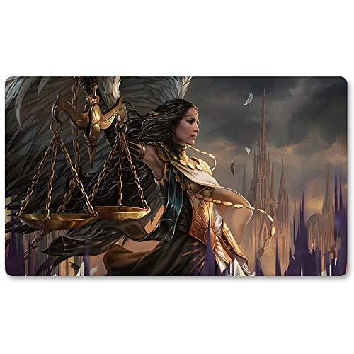 Seraph of The Scales - Tapis de Jeu de Société MTG Tapis de Jeu de Table 60 x 35 cm Tapis de Souris pour TCG Magic The Gathering