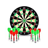 LoveisCool 17'' Magnetic Dart Board with 12 Magnet Darts