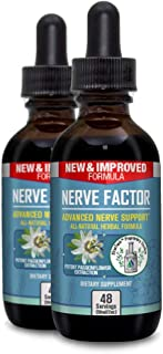 Nerve Factor - Liquid Nerve Support Supplement - Help Support Blood Flow and Calm Relaxation - Turmeric, B-Vitamins, Spirulina and Passionflower