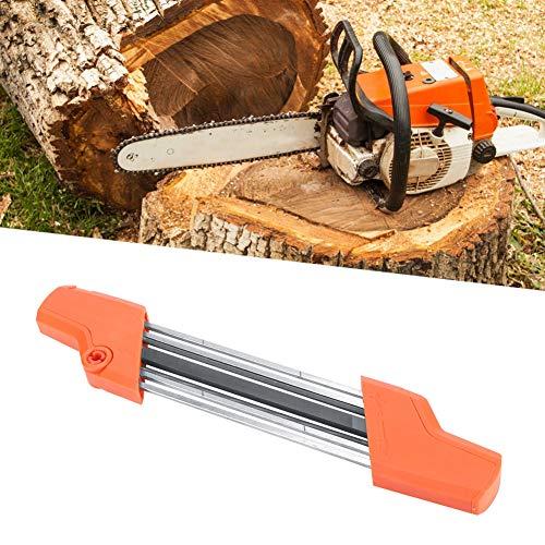 Afilador de cadena de motosierra de fácil archivo, herramienta de afilador de cadena de motosierra para carpintería apta para STIHL 56057504303 2 en 1 3/8 pulgadas 4.0 mm Afilador de motosierra de mot