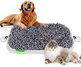 Vurxanqo Snuffle Mat for Dogs Large, Dog Puzzle Toys(17'' x 21''), Dog Interactive Enrichment Toys Encourage Natural Foraging Skills, Dog Brain Mental Stimulation Toys, Food Puzzles for Dogs Cats