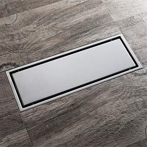 Bodenablaufabdeckung Antiblockier- und Deodorant-Badezimmer Lineare Bodenablauffliese Edelstahl Rechteckige Duschbodenablaufküche Badezimmer Badezimmergarage Toilette für Küche Balkon Badezimmer
