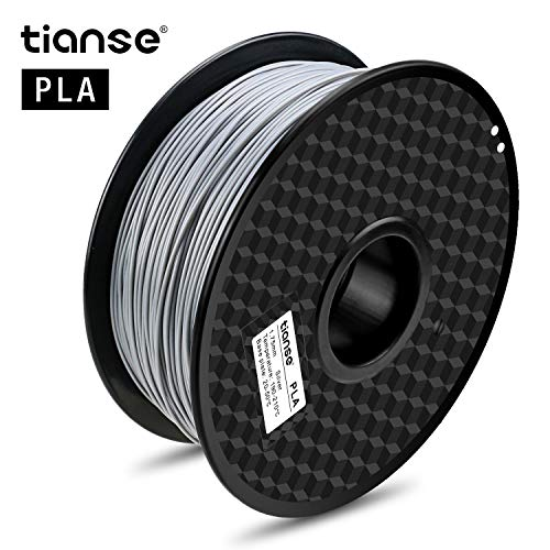 Price comparison product image TIANSE Silver PLA 3D Printer Filament 1.75mm 1KG Spool Filament for 3D Printing,  Dimensional Accuracy + / - 0.03 mm