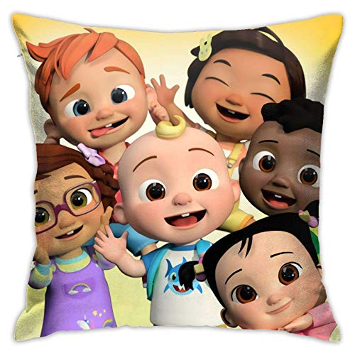 Sadie Mae Pillowcase Kid's Sofa Throw Pillow Cushion Home Living Soft Square Cover Decorative Bedroom Couch 18 X 18 Inch
