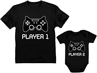 player 1 and 2 shirts