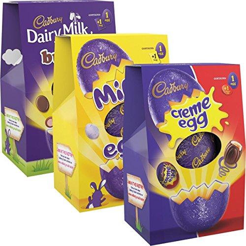 Cadbury Tres Huevos De Pascua Medianas