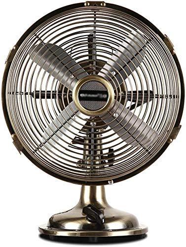 retro metal fan bronce ventilador eléctrico ventilador Mini nostálgico escritorio compacto ventilador eléctrico 8/10 pulgadas de alta gama, 8 pulgadas