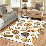 Kekse unterschiedliche Form große benutzerdefinierte rutschfeste moderne Bodenfläche Teppich Pad Matte orientalischen kommerziellen Teppich für Keller Schlafzimmer Wohnzimmer Wohnkultur...