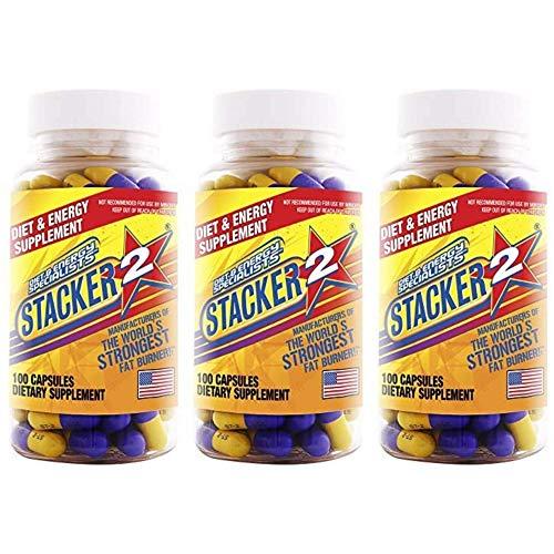 Stacker 2 Fat Burner Capsules, Ephedra Free, 100-Count Bottle (Pack of...