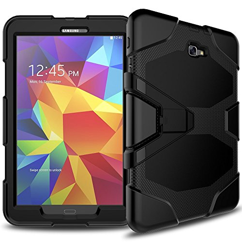 jbTec Tablet-Hülle Schutz-Hülle passend für Samsung Galaxy Tab A 10.1 2016 - Hülle Tasche Cover Bag Pouch Etui Stossfest Outdoor Schutzhülle Tasch, Farbe:Schwarz