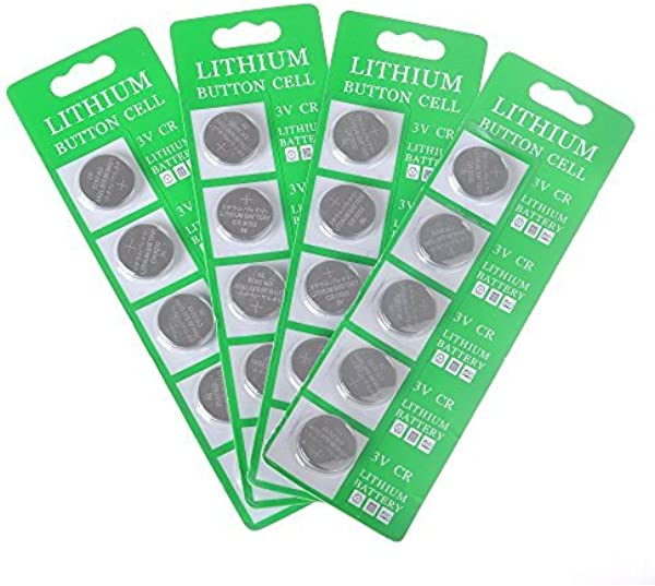 MineTom LED 1 Lot Of 20 CR2032 3 Volt Lithium Button Cell Coin Battery Specially Made For LED Light