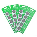Minetom Lithium Button Coin Cell Batteries in Blister Pack CR2032 3V - 20 Count