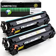 LINKYO Compatible Toner Cartridge Replacement for HP 85A CE285A (Black, 2-Pack)