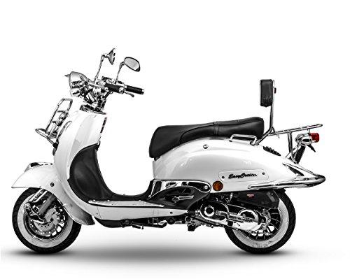 Retro Roller Motorroller 125 ccm - 90 KmH perlweiß Scooter EasyCruiser
