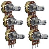 kwmobile 6 Potenciómetros para Arduino y Raspberry - Módulo lineal de resistencia 1K 5K 10K 20K 50K 100K OHM - Con botón regulador y 3 terminales
