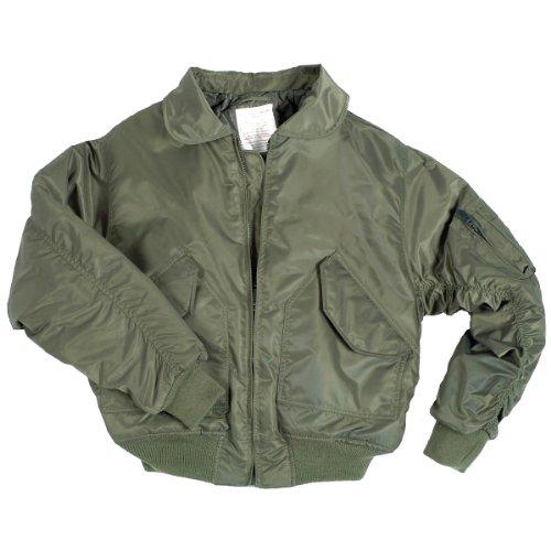 Mil-Tec US CWU Vuelo chaqueta Básico Oliva tamaño M