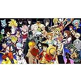 Puzzle - JIGSAW Naruto Dragon Ball Causa de hadas My Hero Academia One Piece Pokemon 300/500/1000 Piezas para adultos Manga Figura Puzzles Juguete Familia Amigos Regalo Regalo Anime Fans