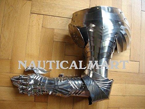 guanti medievali NAUTICAL MART Nauticalmart Renaissance Armatura Pauldron