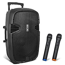 """in budget affordable Pyle 1000W 12 """"Bluetooth PA Speakers- (2) Portable Indoor / Outdoor Audio System with UHF …"""