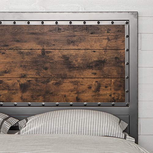 Walker Edison Furniture Company WE Furniture Bed/Headboard, Queen, Brown