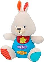 winfun - Peluche Conejo para bebés que habla y luces de colores, Idioma: Español (85179)
