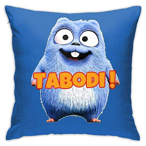 HOJJP Happy Lemmings Tabodi and Grizzy Home Decorative Throw Pillow Covers Bed Sofa Couch Cushion Square Pillow Case 18x18 Inch