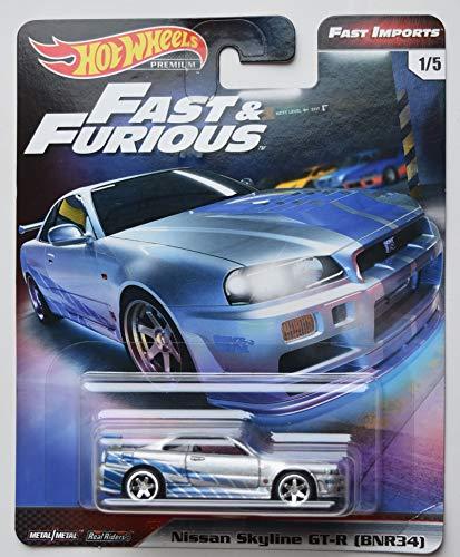 HOT Wheels Fast & Furious Premium Fast Imports, Silver Nissan Skyline GT-R 1/5
