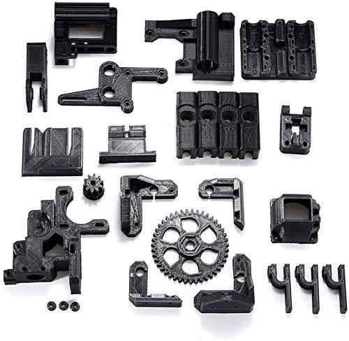 Auoeer 3D Printer Parts ABS Black Filament Black 3D Printed Accessories Parts DIY Kit for RepRap Prusa i3 3D Printer Accessories