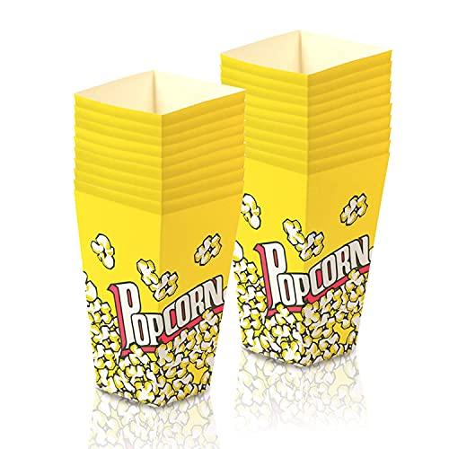 Cajas de palomitas de maíz, mini cajas de palomitas de maíz, caramelos, cajas de papel para cumpleaños, bodas, carnaval, Favor del Partido -Yellow (20 unidades)
