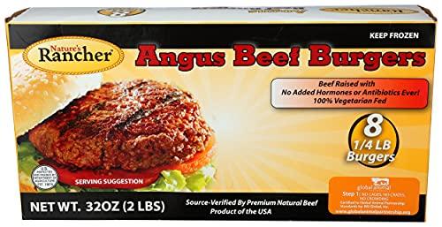 Nature's Rancher, Angus Beef Burgers, 1/4 lb Patties