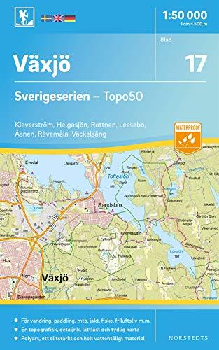 17 Växjö Sverigeserien Topo50 : Skala 1:50 000