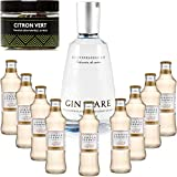 Gintonic - Gin Mare 42,7 ° + 9London Esencia 'cerveza de jengibre' - (70cl 20cl + 9 *) + Pot 20 Rebanadas de la cal deshidratada.