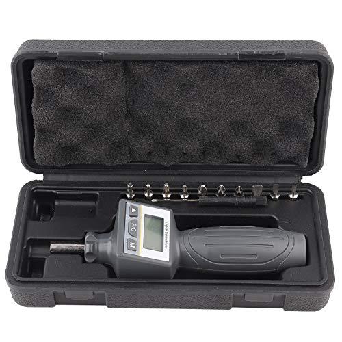 Destornillador de torsión digital Herramienta de mano ajustable preestablecida con 10 puntas de destornillador Juegos de destornilladores ZNS-8