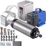 VEVOR Motor de Husillo Refrigerado por Agua 2,2 kW 0-24000 RPM Motor del Husillo CNC Elevación de Bomba 3,5 m 13 Pinzas ER20 Kit de Motor del Husillo CNC para Máquinas de Grabado, Torno, Molino, Bomba